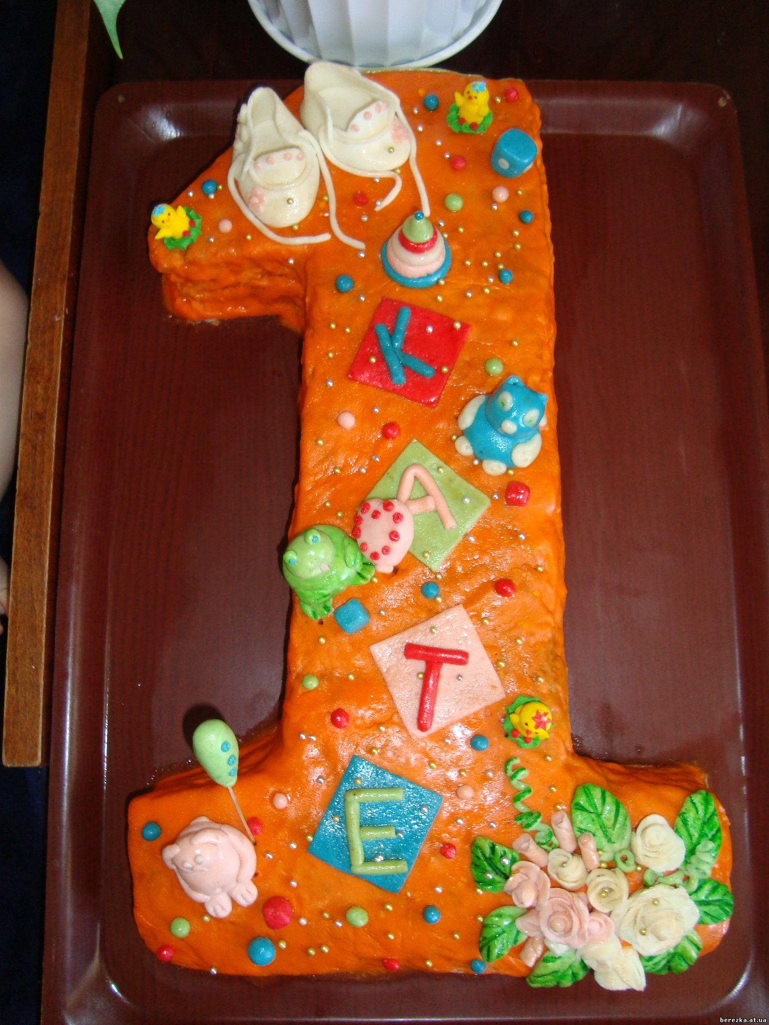 Торт единичка своими руками